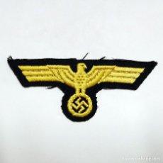 Militaria: KRIEGSMARINE - INSIGNIA PARCHE DE TELA DE AGUILA DORADA PARA PECHO - U-BOOT U-BOAT. Lote 115013879