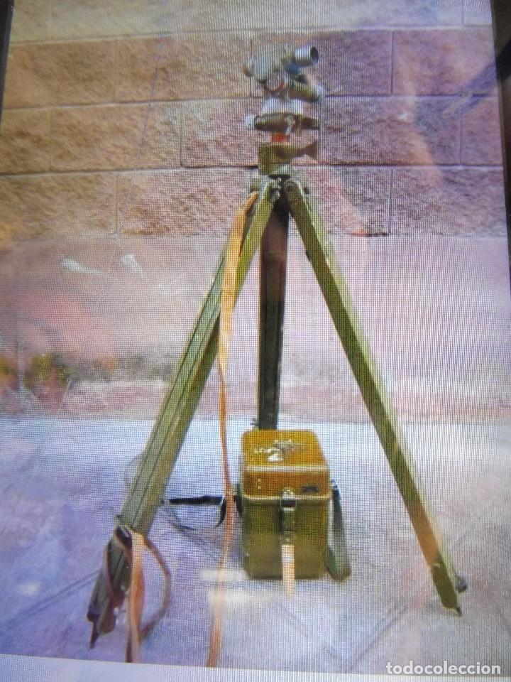 Militaria: Goniometro o aparato artilleria .tripode.calcula tiro de piezas ligeras ..con tripode.2 GM.. - Foto 2 - 115978515