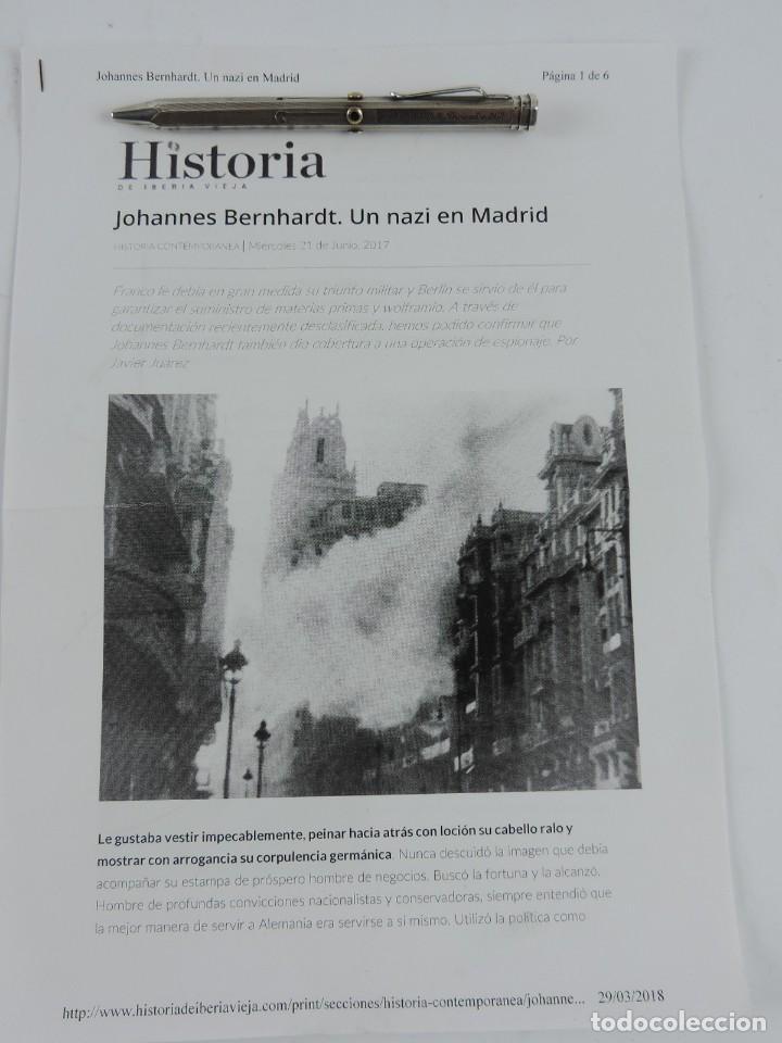 Militaria: PORTAMINAS DE GENERAL DE LAS SS, JOHANNES EBERHARD FRANZ BERNHARDT, GUERRA CIVIL, II GUERRA MUNDIAL, - Foto 9 - 205884991