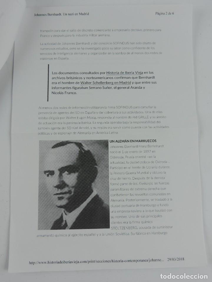 Militaria: PORTAMINAS DE GENERAL DE LAS SS, JOHANNES EBERHARD FRANZ BERNHARDT, GUERRA CIVIL, II GUERRA MUNDIAL, - Foto 10 - 205884991