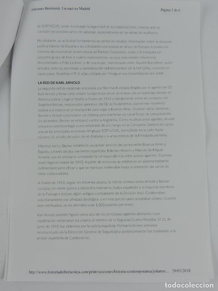 Militaria: PORTAMINAS DE GENERAL DE LAS SS, JOHANNES EBERHARD FRANZ BERNHARDT, GUERRA CIVIL, II GUERRA MUNDIAL, - Foto 13 - 205884991