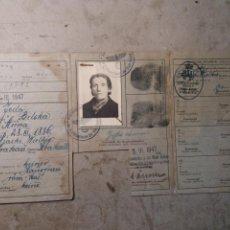 Militaria: DOCUMENTO POLACO KRACOVIA 1942.SELLOS NAZIS. Lote 121431202