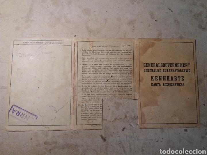 Militaria: Documento polaco Kracovia 1942.sellos nazis - Foto 2 - 121431202