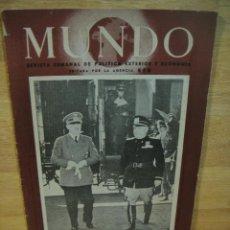 Militaria: MUNDO Nº 58 - 15 DE JUNIO 1941 - DE GAULLE , GUAM , ALEJANDRIA , UNIDADES MEHARISTAS , ETC. Lote 121461779