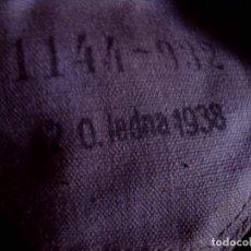 Militaria: MASCARA ANTIGAS EN SU BOLSA, COMPLETA CON ACCESORIOS. NUMERADA Y FECHADA 1938 - PERFECTA. Lote 122436839