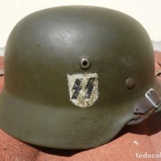 Militaria: CASCO ALEMÁN M35 DE LA SS TALLA 66 - OLLA ORIGINAL RESTAURADO. Lote 124450511