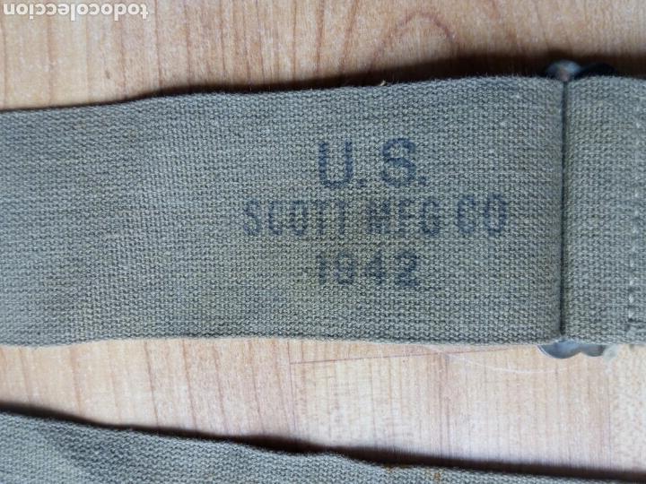 Militaria: CINTA para Musette o para bolsa de transporte de las tropas americanas en la WWII. Mochila 1942 - Foto 2 - 125212130