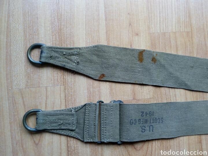 Militaria: CINTA para Musette o para bolsa de transporte de las tropas americanas en la WWII. Mochila 1942 - Foto 3 - 125212130
