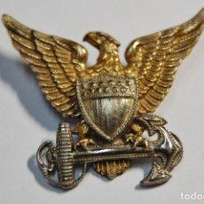 Militaria: INSIGNIA PLATA MACIZA.GORRA GARRISON DE OFICIAL GUARDIA COSTERA ESTADOS UNIDOS.2ª GUERRA MUNDIAL. Lote 128014411
