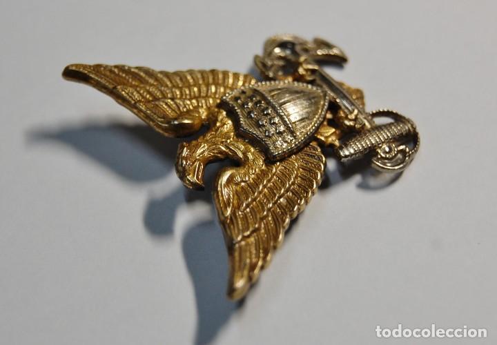 Militaria: INSIGNIA PLATA MACIZA.GORRA GARRISON DE OFICIAL GUARDIA COSTERA ESTADOS UNIDOS.2ª GUERRA MUNDIAL - Foto 2 - 128014411