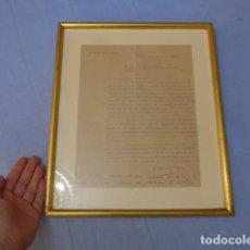 Militaria: * ESPECTACULAR CARTA DE MUSEO DE MUÑOZ GRANDES A GENERAL VIERNA EN 1943, DIVISION AZUL. ZX. Lote 128364211