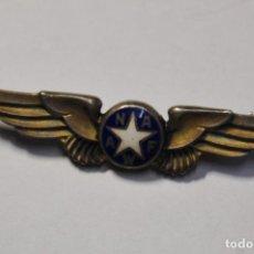 Militaria: INSIGNIA PLATA MACIZA Y ESMALTES.ASOCIACION NACIONAL MUJERES FUERZAS AEREA U.S.A.2ª GUERRA MUNDIAL. Lote 130783152