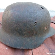 Militaria: CASCO ALEMÁN M35 TALLA 66, ORIGINAL, DE EXCAVACIÓN.. Lote 145502493