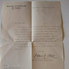Militaria: CARTA ORIGINAL 1944 CONSULADO ALEMAN ESPAÑA AGRADECIMIENTO HITLER A SOLDADO DIVISION AZUL. Lote 138015302