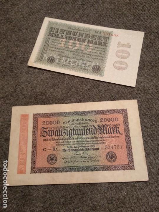 Militaria: Dos billetes República de Weimar III Reich Nazi - Foto 2 - 139697026
