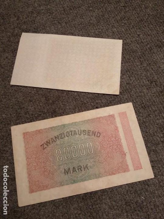 Militaria: Dos billetes República de Weimar III Reich Nazi - Foto 3 - 139697026