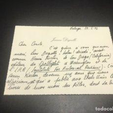 Militaria: ESCRITO DE JEANNE DEGRELLE HIJA DE LEON DEGRLLE. Lote 140323530