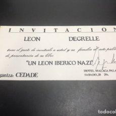 Militaria: FIRMA O AUTOGRAFO DE LEON DEGRELLE. Lote 140324697