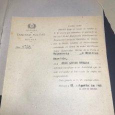 Militaria: DIVISION AZUL MUTILADO TRIBUNAL MEDICO. Lote 141240832