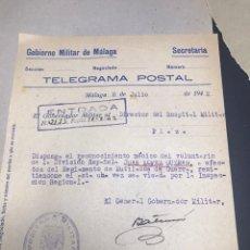 Militaria: DIVISION AZUL MUTILADO TELEGRAMA. Lote 141241077