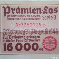 Militaria: LOTERIA DEL NSDAP 1940. Lote 142518653