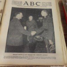 Militaria: ABC 3 DE DICIEMBRE DE 1939, 16 PAGINAS, HITLER PREMIA A LOS HEROES DEL EJERCITO ALEMAN,ETC. Lote 143186622