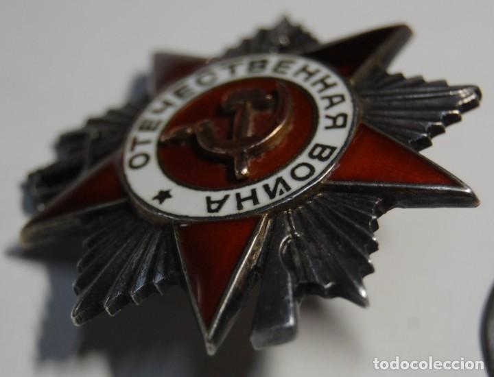Militaria: MEDALLA RUSA PLATA MACIZA Y ORO.ORDEN GRAN GUERRA PATRIOTICA 2ª CLASE.EXTRAORDINARIO ESTADO. - Foto 5 - 146235130