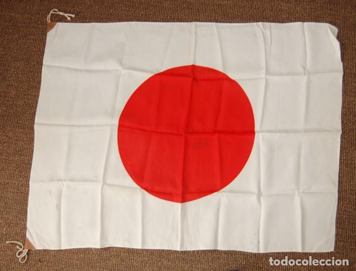 BANDERA MILITAR JAPONESA DE LA SEGUNDA GUERRA MUNDIAL.ORIGINAL Y EN EXTRAORDINARIO ESTADO. (Militar - II Guerra Mundial)