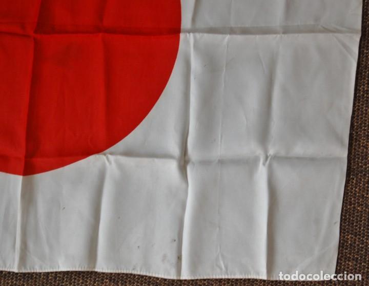 Militaria: BANDERA MILITAR JAPONESA DE LA SEGUNDA GUERRA MUNDIAL.ORIGINAL Y EN EXTRAORDINARIO ESTADO. - Foto 5 - 146372878