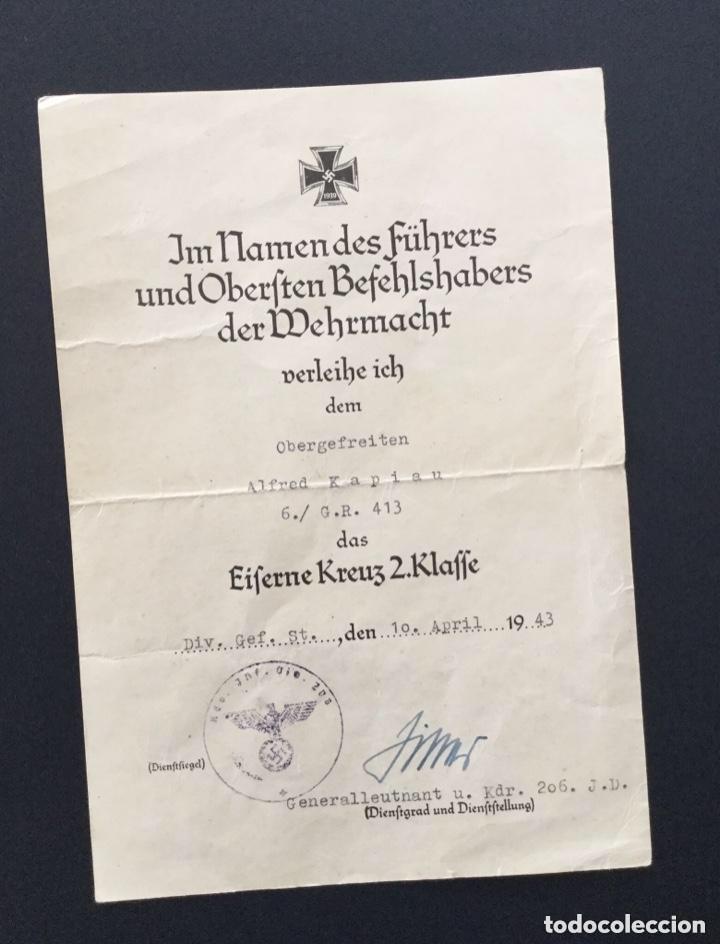 Militaria: Concesion cruz de hierro firma ganador cruz de caballero hojas de roble y cruz alemana en oro!!! TOP - Foto 2 - 146605942