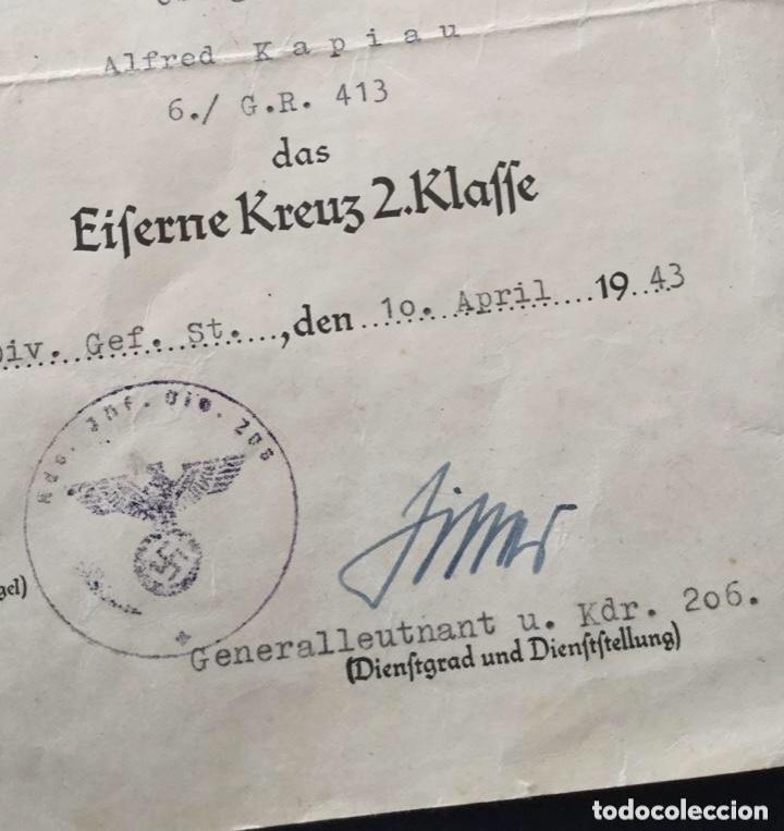 Militaria: Concesion cruz de hierro firma ganador cruz de caballero hojas de roble y cruz alemana en oro!!! TOP - Foto 3 - 146605942