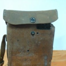 Militaria: TELEFONO DE CAMPAÑA U.S ARMY WWII SIGNAL CORPS TELEPHONE EE-8-B FIELD PHONE - LEATHER CASE - VTG. Lote 147354338