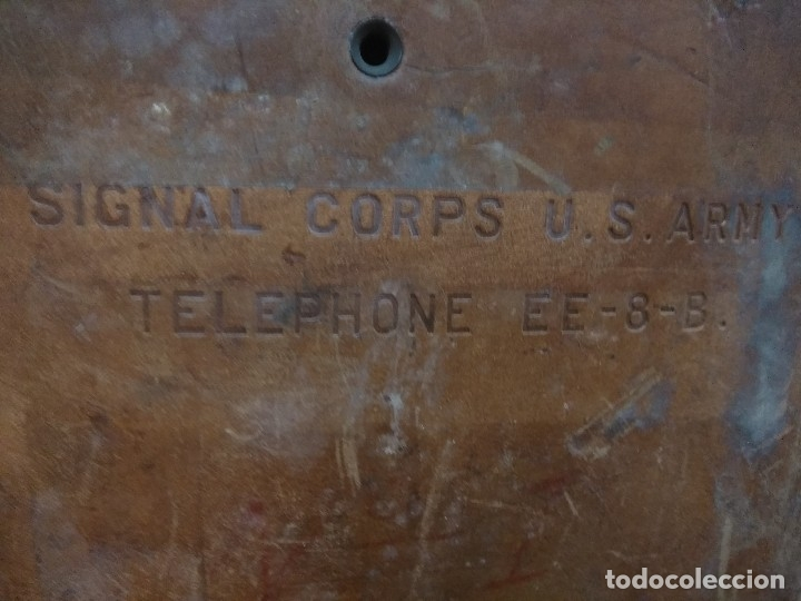 Militaria: TELEFONO DE CAMPAÑA U.S Army WWII Signal Corps Telephone EE-8-B Field Phone - Leather Case - Vtg - Foto 2 - 147354338