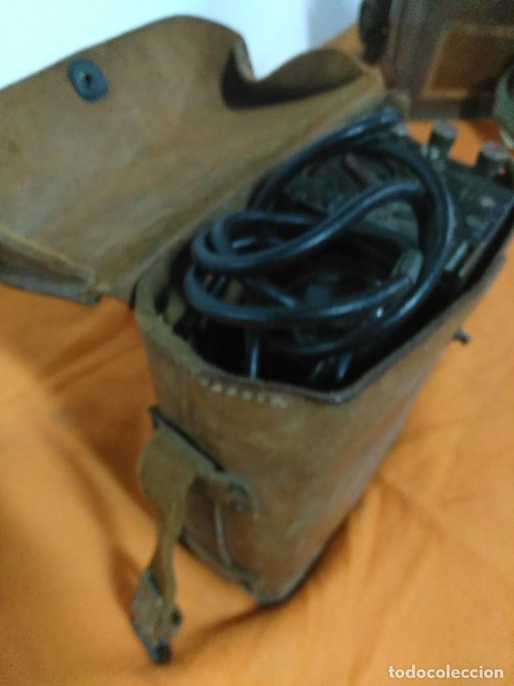 Militaria: TELEFONO DE CAMPAÑA U.S Army WWII Signal Corps Telephone EE-8-B Field Phone - Leather Case - Vtg - Foto 4 - 147354338