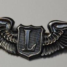 Militaria: INSIGNIA DE PLATA MACIZA.PILOTO LIDER DE VUELO.FUERZA AEREA DE ESTADOS UNIDOS.2ª GUERRA MUNDIAL.. Lote 148022382