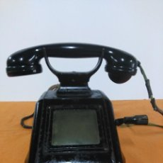 Militaria: TELÉFONO ANTIGUO DE SOBREMESA A MAGNETO SIEMENS. Lote 148214126