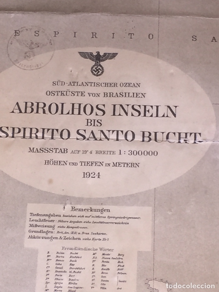 Militaria: Nazi Carta Nautica Nazi de Brasil - Foto 3 - 150104809