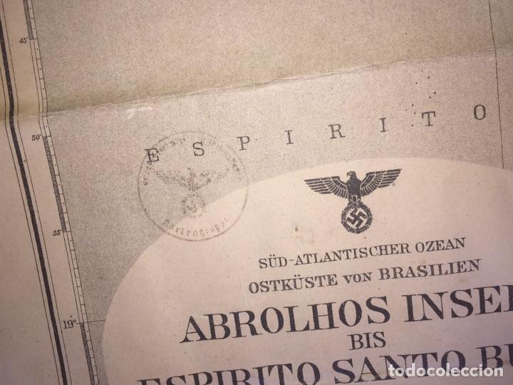 Militaria: Nazi Carta Nautica Nazi de Brasil - Foto 15 - 150104809