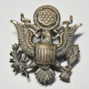Militaria: ESPECTACULAR INSIGNIA DE PLATA PARA GORRA DE OFICIAL DE LA FUERZA AEREA U.S.A.SEGUNDA GUERRA MUNDIAL. Lote 148950554