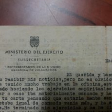 Militaria: DIVISIÓN AZUL , CARTA .. Lote 152906041