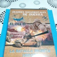 Militaria: GRANDES DOCUMENTALES DE GUERRA DVD 1 EL DIA D , DVD 2 LA BATALLA SECRETA HEROES. Lote 153934924
