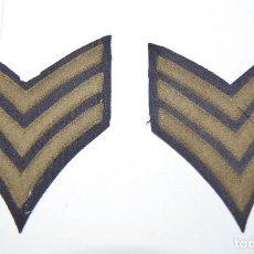 Militaria: DISTINTIVOS DE SARGENTO DEL EJERCITO DE ESTADOS UNIDOS DURANTE LA 2ª GUERRA MUNDIAL. Lote 155011970