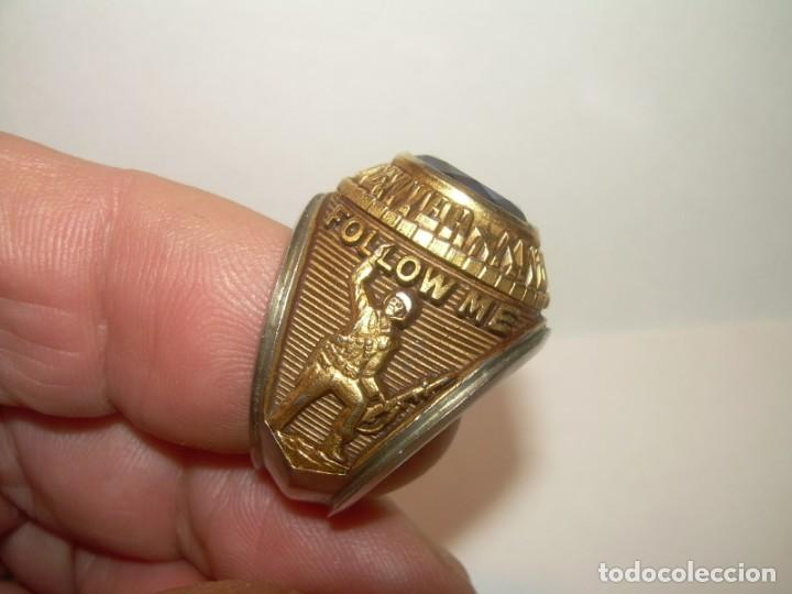 Militaria: ANILLO...U..S. ARMY .INFANTRY CENTER...FOLLOW ME. - Foto 5 - 155944738