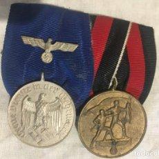 Militaria: ALEMANIA III REICH, PASADOR, 4 AÑOS DE SERVICIO EN LA WEHRMACHT. Y ANEXIÓN DE LOS SUDETES.. Lote 191654061