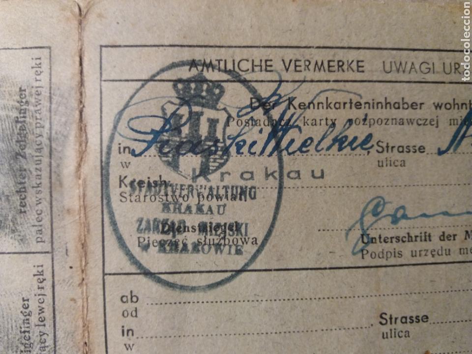 Militaria: Documento polaco Kracovia 1942.sellos nazis - Foto 3 - 121431202