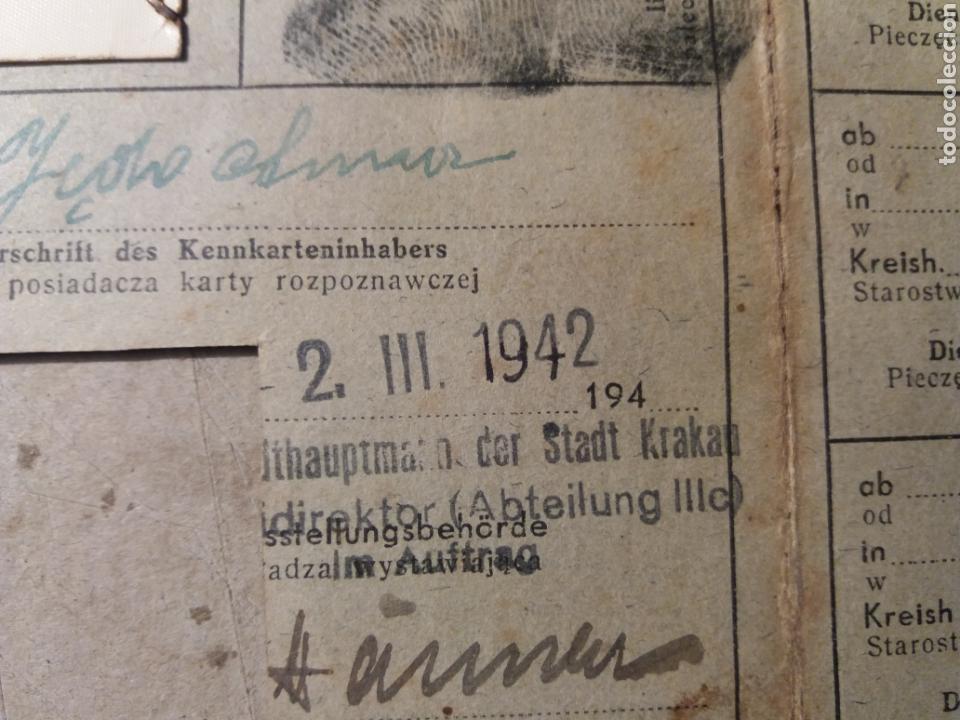 Militaria: Documento polaco Kracovia 1942.sellos nazis - Foto 4 - 121431202