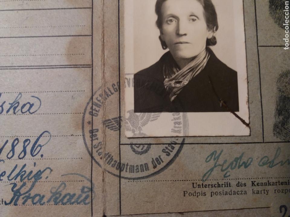 Militaria: Documento polaco Kracovia 1942.sellos nazis - Foto 5 - 121431202