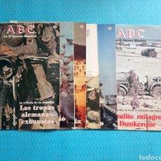 Militaria: ABC LA II GUERRA MUNDIAL LOTE DE 7 FASCICULOS NUMS 4 6 12 47 71 73 76 CON RECORTES. Lote 159951825