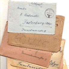 Militaria: 10 SOBRES CON SU CARTA CORRESPONDENCIA NAZI DE UN SOLDADO ALEMÁN A SU FAMILIA AÑOS 1943 Y 1944. Lote 160837690