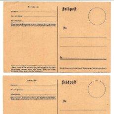 Militaria: DOS TARJETAS NAZIS SIN CIRCULAS DE LA II GUERRA MUNDIAL. Lote 160838226